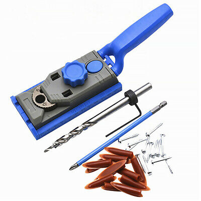 Woodworking Pocket Hole Jig Drill Guider Kit 9.5mm Drill Bit with Scale Marking