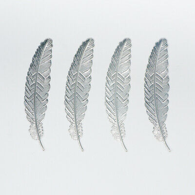 5PCS Silver Bird Feather Metal Bookmarks For Books Book Markers Gift For Readers