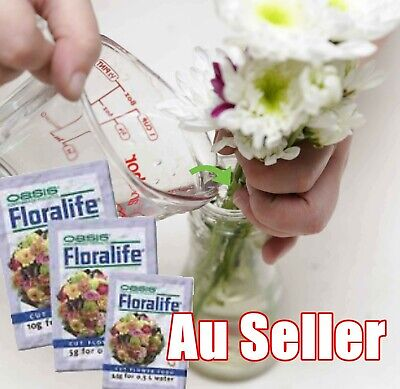 Floralife Universal Cut Flower Food Sachets Clear 3.5g x 15 - (FREE POSTAGE)