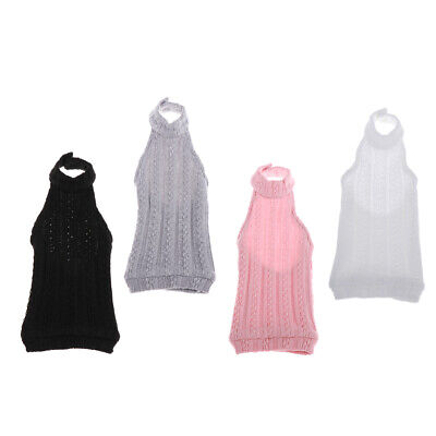BJD Dolls Clothing Backless Knit Sweater V Neck Dress for 1/4 MSD AS SD DZ