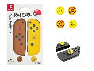 Hori Analogue Caps Lets Go Pokemon Pikachu Yellow for Nintendo Switch Joy-con