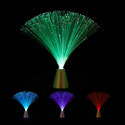 Fiberglass Lamp with Colour Change, Retro Bedside Table Lamp with Light Effects