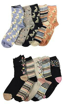 M&S Ladies Cotton Rich ankle socks Sumptuously soft Touch Gentle Top Pack Of 5