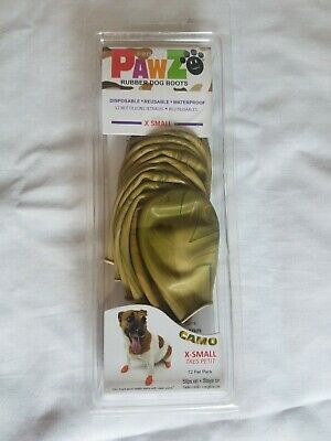 Protex Pawz Rubber Waterproof Dog Boots Size X Small Camo