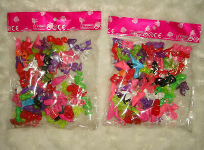 New Lot 20 Pairs Brand New Beautiful Barbie Doll Shoes Xmas Birthday Gift DR01