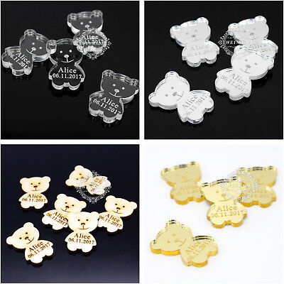 Personalized Name Teddies Bear Baby Shower Party Table Confetti Decor Favours