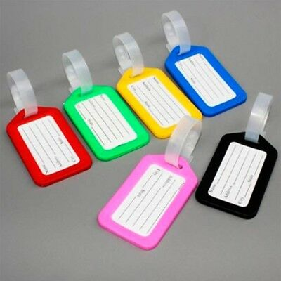 Plastic Suitcase Baggage Tags 5Pcs Travel Luggage Bag Tag Address Name ID Label