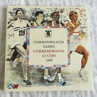 UK 1986 ROYAL MINT COMMONWEALTH GAMES BRILLIANT UNCIRCULATED £2  - sealed pack