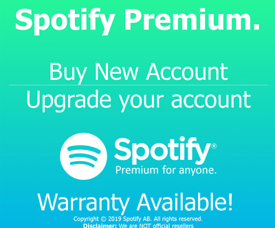 Spotify Premium [New Account/Upgrade Account - None/1 Month/12 Month Warranty]