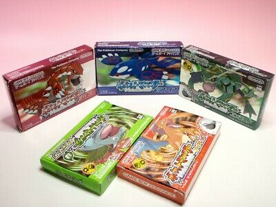Used GAMEBOY ADVANCE Lot POKEMON Ruby Emerald Sapphire Red Green GBA from Janpan