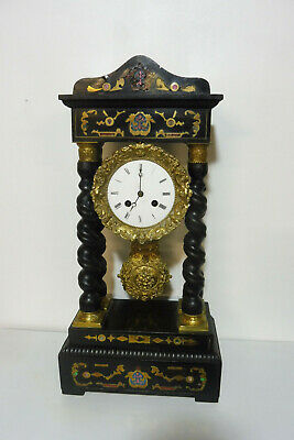 Antique French Clock Empire Clock Shelf Mantel Table Clock