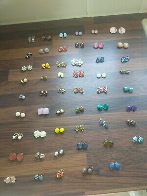 Job Lot 53 pairs 1960/70s clip on earrings