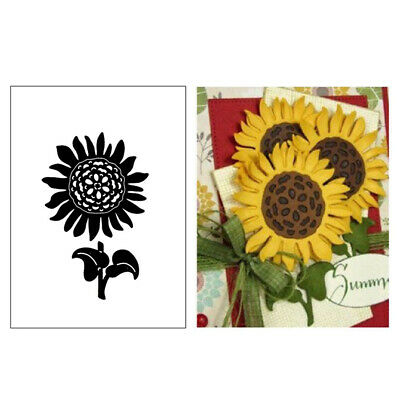 DIY Sunflower Metal Cutting Dies Stencil Scrapbooking Album Paper Card Embossing