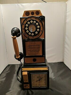 """Spirit of St Louis"" Wall Mount Wood Antique Retro Replica of Rotary Telephone"