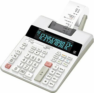 Casio FR 2650 RC Calculatrice imprimante Blanc