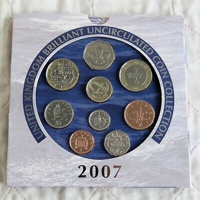 2007 ROYAL MINT UK BRILLIANT UNCIRCULATED  COIN SET - sealed pack