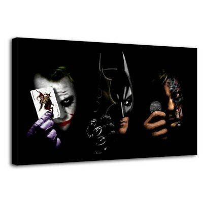 "12""x22""DC Batman Joker Paintings HD Print on Canvas Home Decor Wall Art Pictures"