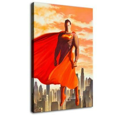 "12""X18""Superman Paintings HD Print on Canvas Home Decor room Wall Art Pictures"