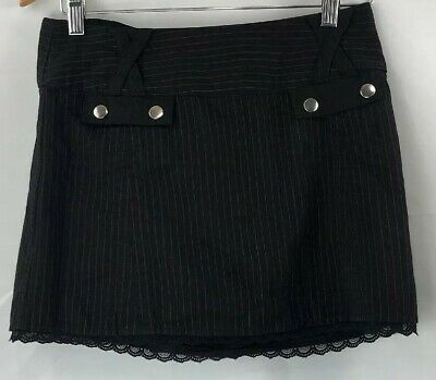 9c1cc19779 TRIPP NYC gothic reversible pleated pin striped corset mini skirt SMALL