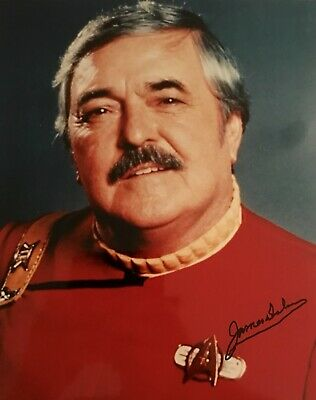 James Doohan HAND SIGNED STAR TREK Scotty 10x8 Convention Photograph *IN PERSO*