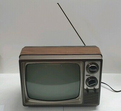 """Vintage 1984 RCA B&W 12"""" TV Set Retro Black and White Television WORKS GREAT!"""