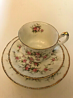 """Paragon Victoriana Rose Tea Cup with Saucer and 7"""" Plate"""