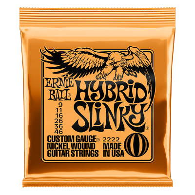 Ernie Ball 2222 Hybrid Slinky Nickel Electric Guitar Strings 9-46