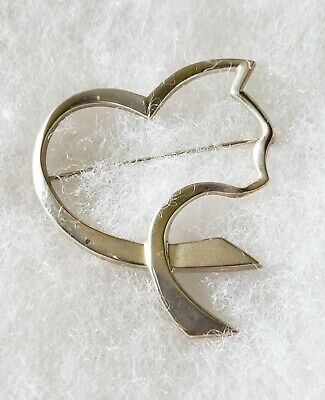 e393ce62fceb4 TIFFANY & CO Paloma Picasso Loving Heart with Bow Sterling / 18K ...