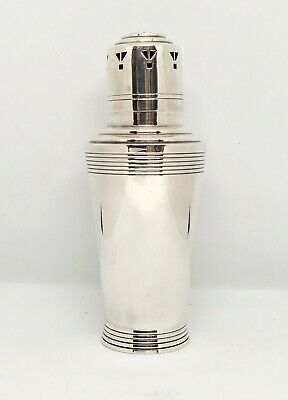 Mappin & Webb Keith Murray Art Deco Silver Plate Muffineer Sugar Shaker Sifter