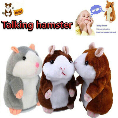 Cheeky Talking Hamster Repeats What You Say Electronic Pet Plush Toy Cute Gifts