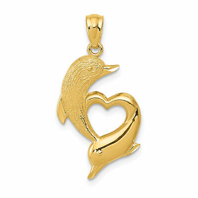 14k Yellow Gold Initial A Polished Solid Charm Pendant 28mmx17mm