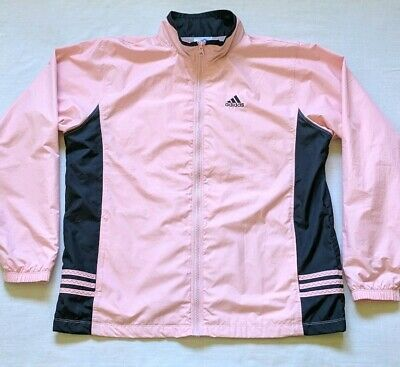 fe358039ce3 ADIDAS PASTEL ROSE Track Jacket Zip Up Floral Print Pink Extra Small ...