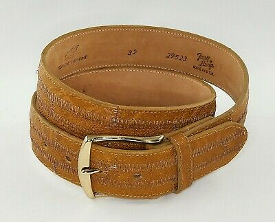 Vintage Tony Lama Gray Genuine Elephant Leather Belt Size 32 EXCELLENT CONDITION