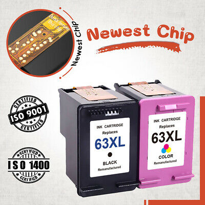 Lot #63 XL Ink Cartridge New Chip for HP Envy 4512 4520 Officejet 5255 5258 3830