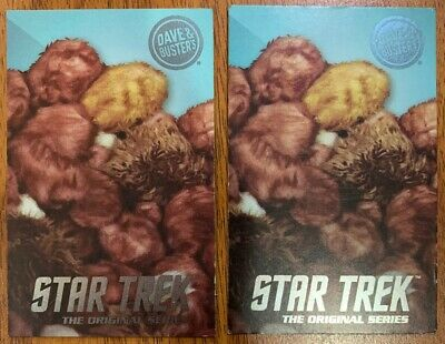 TWO (2) RARE Tribbles Star Trek The Original Series Cards Dave & Busters