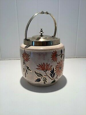 Vintage/Antique Rare Biscuit Barrel Jar With Espn Lid