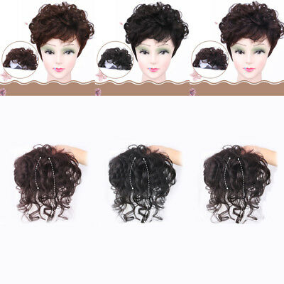100% Remy Human Hair Topper Hairpiece Clip In Handmade Natural Curly Women Lady
