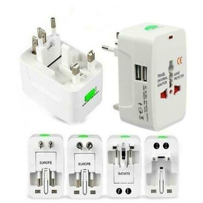 Universal Travel AC Power Charger Adapter Plug Converter 2 USB Port New Fast