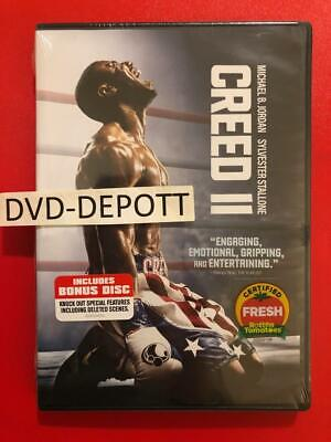 Creed II 2 DVD With Bonus DISC 2 DISC AUTHENTIC DVD READ New FAST Free Shipping