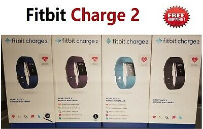 Fitbit Charge 2 Heart Rate Monitor Fitness Wristband Activity Tracker -All Color