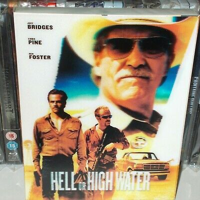 "Steelbook""Hell Or Hight Water""comme neuf+Blu-ray en VF"