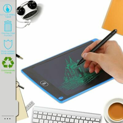 """8.5"""" Electronic Digital LCD Writing Pad Tablet Drawing Graphics Board Notepad AU"""