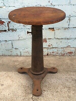 Original VINTAGE 1880s SINGER Sewing Machine STOOL Industrial Cast Iron ANTIQUE
