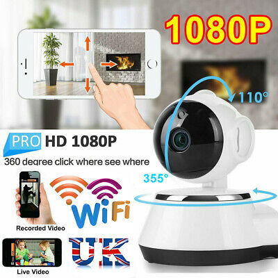 1080P HD Wireless IP Camera Home Security Smart WiFi Audio CCTV Camera UK