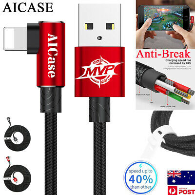 MVP ELBOW Lightning USB Charging Charger Cable for iPhone XS Max XR X 8 7 6 Plus