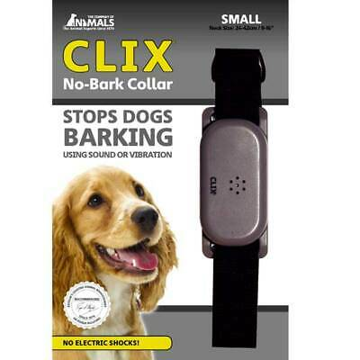 No-Bark Dog Collar Humane Way No Electric Shocks Works with Vibration or Noise