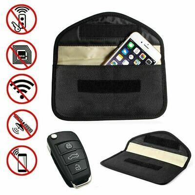 Phone Car Key Signal Blocker Entry Fob Signal Guard Blocker Faraday Bag Black