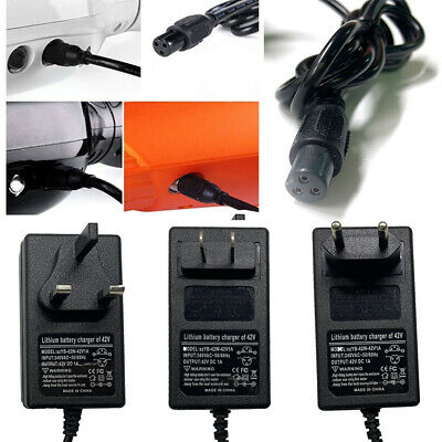 42V 1A Power Adapter Charger For 2 Wheel Self Balancing Hoverboard Scooter Cord
