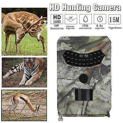 UK EU 12MP HD Hunting Trail Camera PIR IR LED Motion Activated Security Wildlife