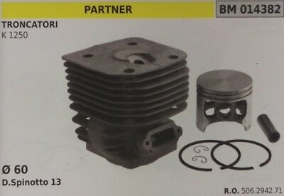 HUSQVARNA K1250 CYLINDER /& PISTON REPLACEMENT KIT 60MM REPLACES PART # 506294271